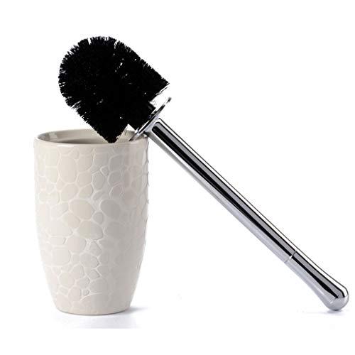 NYKK Escobilla WC Cepillo de baño de cerámica Creative Bump Cepillo de baño de adoquines de Moda Set Cepillo de baño doméstico Escobillas de Baño (Color : Beige)