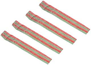 Dorval Trading Company Sour Power Bulk Loose Strawberry Apple Candy Belts, (19.8 Pounds)