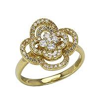 真珠の杜 ダイヤモンド リング K18 ゴールド 18金 0.50ct フラワーモチーフ 花 可愛い レディース ダイヤ ジュエリー 10.5号