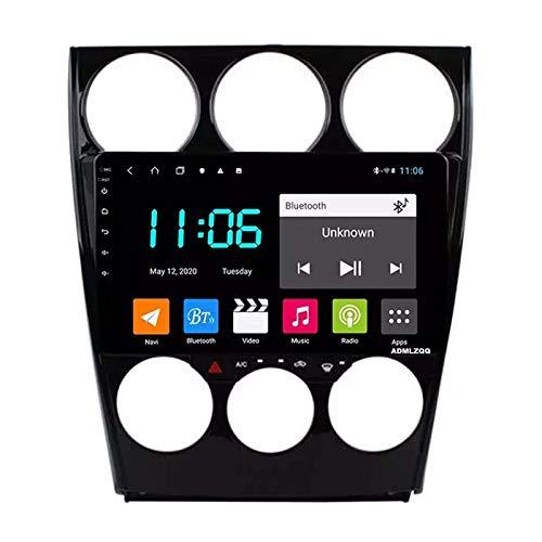WY-CAR Android 8.1 Navegación para Automóvil Radio Estéreo para Automóvil para Mazda 6 2002-2008, Pantalla Táctil HD 2.5D De 9 Pulgadas,FM/RDS/GPS/Bluetooth/SWC/Mirror Link/Cámara De Visión Trasera
