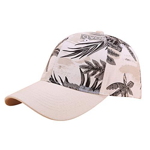 Fashion Floral Baseball Cap Adjustable Cotton Low Profile Dad Hat Sun Hats for Women Girls White