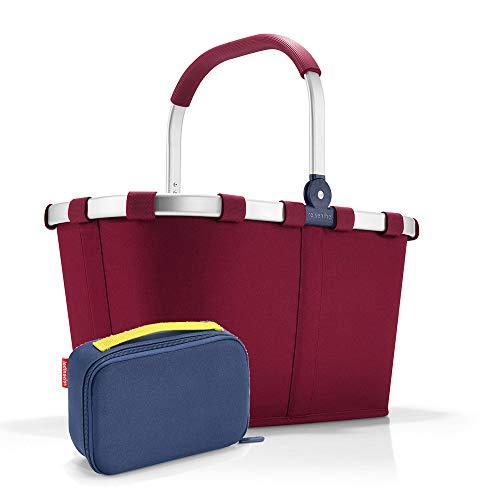 Set carrybag BK, thermocase OY, SBKOY Einkaufskorb mit Kleiner Kühltasche, Dark Ruby + Navy (30354005)