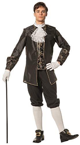 W5084C-56 schwarz Herren Marquisen Kostüm Barock Anzug Gr.56