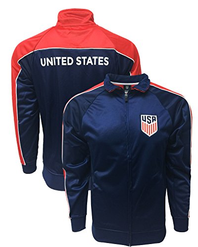 US Soccer Jacket, Official USA Track Jacket for Adults