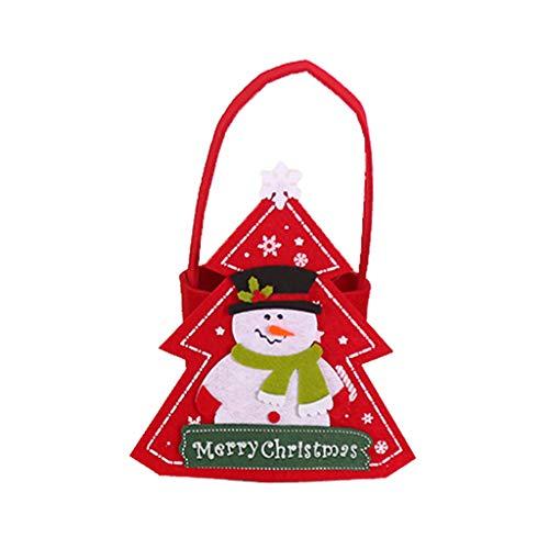 planuuik Kerstmis Snoep Tas Draagbare Handgemaakte Vilt Doek Kleine Tote Kids Manden Gift