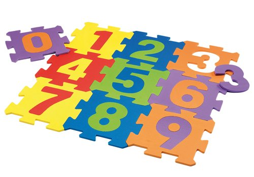 Happy People 63055 - Eva Zahlenpuzzle, Spielmatten mit Zahlen, 10 Stück