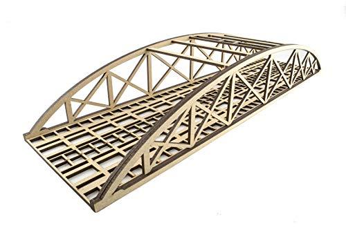 War World Scenics - Puente Tipo Arco Bowstring de vía Doble 560mm sin Detalles - Modelismo Ferroviario OO/HO, Maquetas