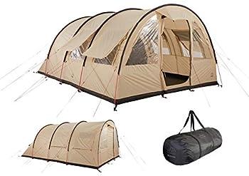 Grand Canyon HELENA 6 - tente tunnel pour 6 personnes   tente famille/groupe avec deux zones de couchage   Désert de Mojave (beige)