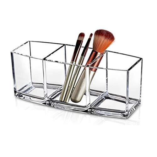 duquanxinquan Jolie boîte Transparente en Acrylique,Design Chic Transparent Organisateur de Maquillage,Rangements pour Produits cosmétiques pour ustensiles de Maquillage,pinceaux,Mascara,Crayons