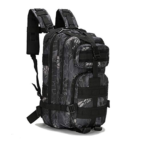 OASIS LAND 30L Hiking Backpack Outdoor 3P Backpack Camouflage Bags Trekking Camping Backpack Camouflage Cycling Bag-Blacksnake-OneSize