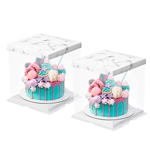 Scatola per torta trasparente, 2 pezzi Scatole per dolci in plastica trasparente Portapiatti con...
