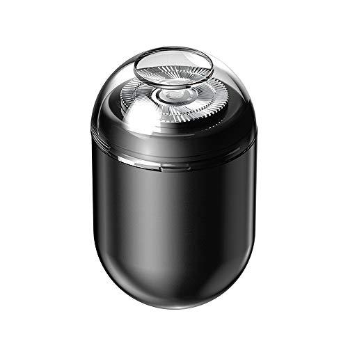 DECEM 超小型USBミニシェーバー [ 回転式 電気シェーバー コンパクト メンズ 髭剃り 携帯用 旅行用 メンズシェーバー パワフル ミニマルデザイン ] DC20213 (ブラック)【日本正規代理店品】