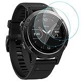 KIMILAR Schutzfolie Kompatibel mit Garmin Fenix 5 /Honor Watch GS Pro Panzerglas (Nicht für Sapphire/Fenix 5 Plus/5S/5X/5X Plus), [2 Stück] Gehärtetem Glas Bildschirmschutzfolie für Fenix 5-9H Festigkeit