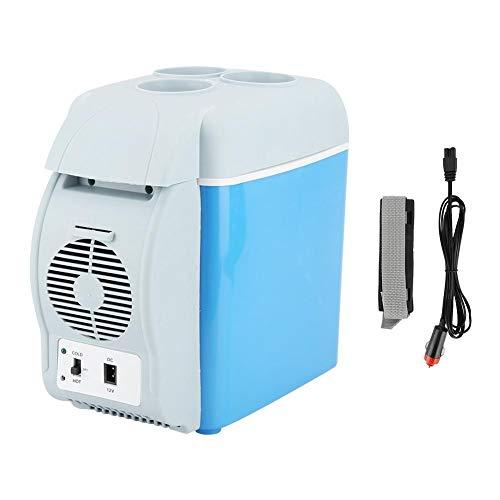 Cryfokt Mini Refrigerador del Coche 7.5L, PortáTil Modo Dual MultifuncióN Calentador De Enfriador De Control De Temperatura con TamañO PequeñO Pero Gran Capacidad para Conducir, Viajar, Pescar