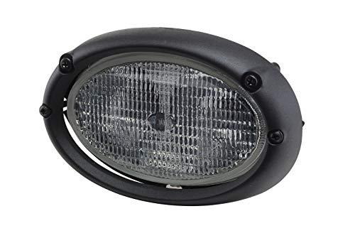 HELLA 1GA 996 161-111 Halogène-Projecteur de travail - Oval 100 - 12V - Montage encastré - Éclairage au sol/Éclairage du champs proche - Câble: 2000mm - Fiche: AMP