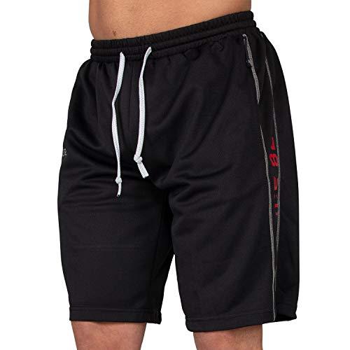 Gorilla Wear Functional Mesh Short Black/Red - schwarz/rot - Bodybuilding und Fitness Short für Herren, Schwarz / Rot, Large / X-Large