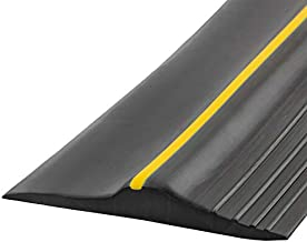 Universal Garage Door Bottom Threshold Seal Strip,Weatherproof Rubber DIY Weather Stripping Replacement, Not Include Sealant/Adhesive (20Ft, Black)