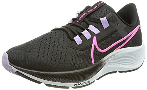 Nike Air Zoom Pegasus 38, Zapatillas para Correr Mujer, Black/Hyper Pink-Lilac-Pure Pl, 37.5 EU