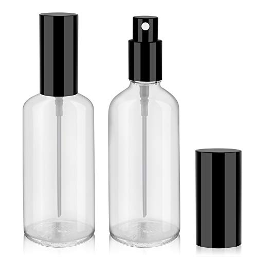 Empty Glass Spray Bottles, Perfume Bottles, Fine Mist Spray, 3.4oz, 2 Pack