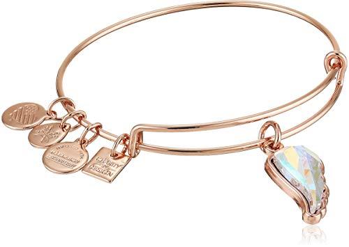 Alex and Ani Crystal Wing EWB Cuff Bracelet, Shiny Rose, Expandable
