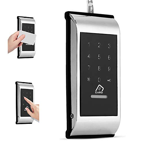 Digitales Elektronisches Smart Lock, Intelligentes Türschloss, Passwort-Touch-Tastatur-Code-Schloss(Silber)