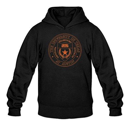 TMILLER Men's University of Texas at Austin Logo Hoodied Sweatshirt Size L Black