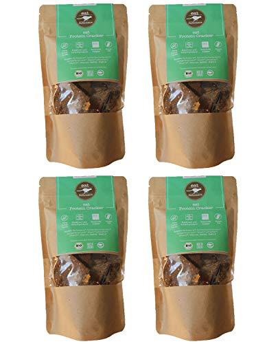 eat Performance® Protein Cracker (4x 100g) - Bio, Paleo, Glutenfrei, Laktosefrei, Ohne Milch, Aus 100{2165998bb155b2cfa2a3d1050dcd305a89a592229726ad1ba9f5dca0c6f2a9f4} Natürlichen Zutaten