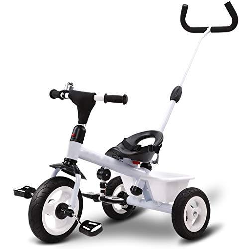 GYF Triciclo Multifunción Portátil De Triciclo Infantil 3 En 1 Triciclo 2-6 Años Saldo Al Aire Libre Antiguo Bici del Bebé De 3 Colores, 64x74x47cm (Color : White)