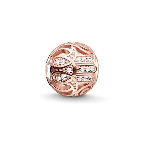 Thomas Sabo Karma Beads, Mujer, Bead'mano de Fátima rosa', Plata de ley 925; baño de oro rosa de 18 quilates, K0206-416-14