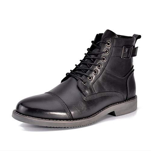 ZRH Zapatos Hombre Invierno Chelsea Botas Hombres Tobillo Botas De Cuero Genuino De Goma SoleRound Encaje del Dedo del Pie hasta Baja Superior Ocasional del Holgazán Botas Hombre Impermeables