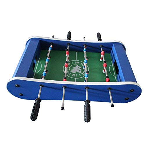 Tafelvoetbal Speltafel Pool Biljart hockey tafelvoetbal en een tafel for Families Foosball Family Fun Game (Kleur: Blauw, Maat: 59x31x15cm) aijia (Color : Blue, Size : 59x31x15cm)