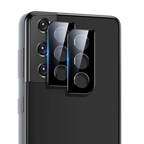 ESR Protector de Lente para cámara Compatible con Samsung Galaxy S21 Plus 5G (2021), 2 Unidades, Cristal Templado Ultrafino Resistente a arañazos, Negro