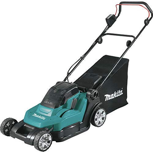 "Makita XML05Z (36V) Lithium-Ion Cordless 18V X2 LXT 17"" Residential Lawn Mower, Tool Only, Teal"