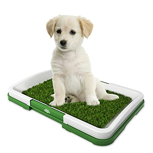 """Artificial Grass Bathroom Mat for Puppies and Small Pets- Portable Potty Trainer for Indoor and Outdoor Use by Petmaker- Puppy Essentials, 18.5"""" x 13"""""""