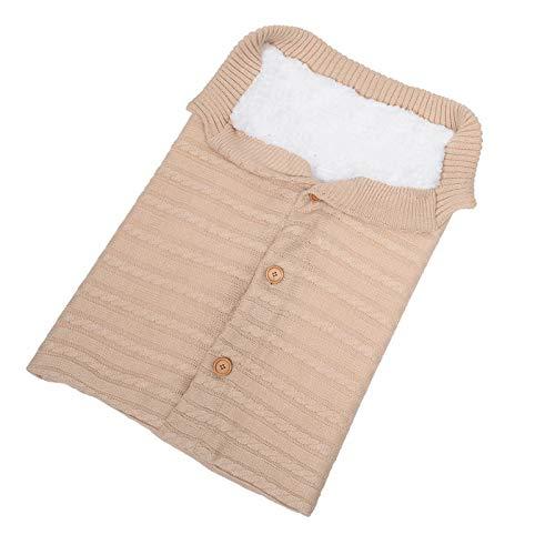 LiuQ Bolsa Dormir Niños Dormir del bebé Bolsa sobre Cocoon sólido de Punto Cochecito pañal Bunting Wrap Manta Bolsas recién Nacidos niños del Saco de Dormir for los niños Niño (Color : LTMM012 5)