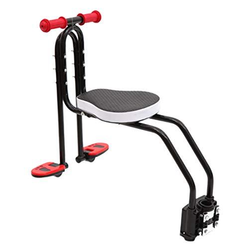 Yavso Seggiolino Bicicletta Anteriore per Bambino, Pieghevole Sedile Seggiolino Anteriore per Bici da Corsa MTB per Bambini 2-6 Anni - Max 50KG