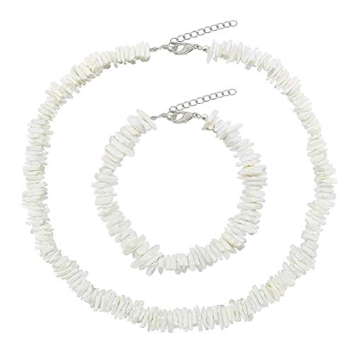 Natural Puka Shell Necklace, Fashionable White Shell Nugget, Irregular Gravel Chips, Beads for Women, Gifts