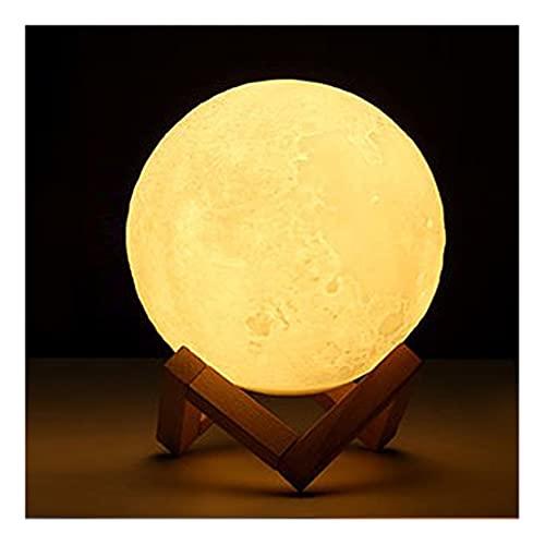Lindo LED RGB Luz de la Luna Luz de la Luz de la Luz, Impresión 3D Lámpara de Noche Decorativa Lámpara de Noche Control Táctil Brillo Ajustable Carga USB Inodoro (tamaño : 7.3inch)
