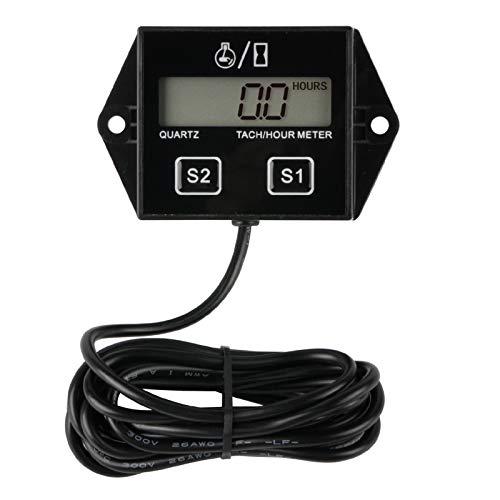 Runleader Digitaler Stundenzähler,Wartungserinnerung,Batterie austauschbar,automatisch heruntergefahren,Verwendung für ZTR-Rasenmäher-Traktorgenerator Marine Schneemobil und gasbetriebene Ausrüstung