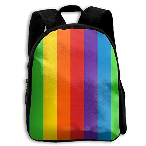 jenny-shop Rainbows Stripes Vertical Toddler Backpack 13 'Sacs à Dos d'école pour Enfants pour garçons et Filles