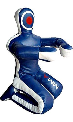 LEATHERAY MMA Jiu Jitsu Judo Punching Bag Grappling Dummy Blue Canvas-70 inches-Unfilled