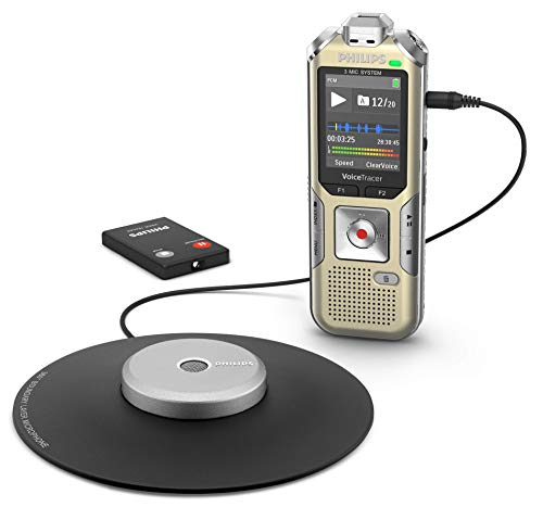 Philips Voice Tracer DVT8010 Meeting Recorder with Wireless Remote Control