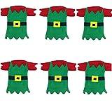 LAANCOO Set de vajillas de Navidad 6 Piezas de Navidad Cubiertos de Navidad vajilla navideño vajilla Decorativo Tenedores para Navidad Navidad Cubiertos Conjunto