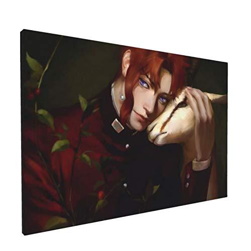 HXFCAT Jojo'S Adventure Merch Cartoon Anime Panels Canvas Painting Poster Wall Art Home Decor No Borderone Size White