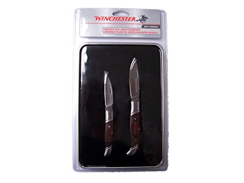 WINCHESTER Micarta Slip Joint Folder 2 Knife Gift Set 31-002756