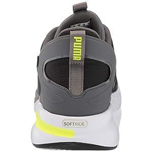 PUMA Men's 19438102 Running Shoe, Black-Castlerock-Yellow Alert, 10.5
