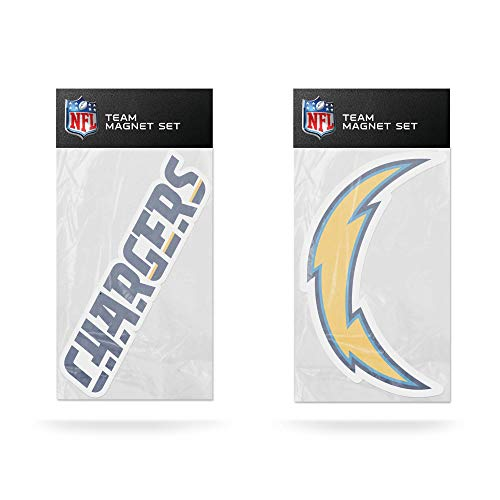 NFL Rico Industries 2-Pack Die Cut Team Logo Magnet Set, Los Angeles Chargers