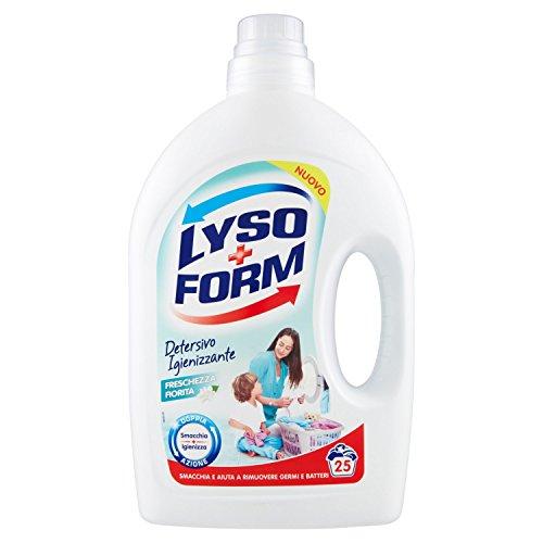 Lysoform Detersivo Igienizzante per Bucato Freschezza Fiorita, 25 Lavaggi, 1.625L