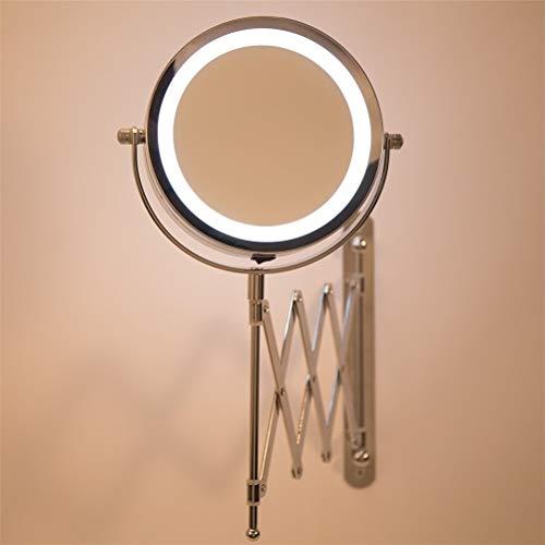 Xbai 10x Specchio di Trucco da Tavolo ingrandimento con Luce a LED 360 Rotazione Doppia Lato 7inch LED Illuminato Lo Specchio comestico