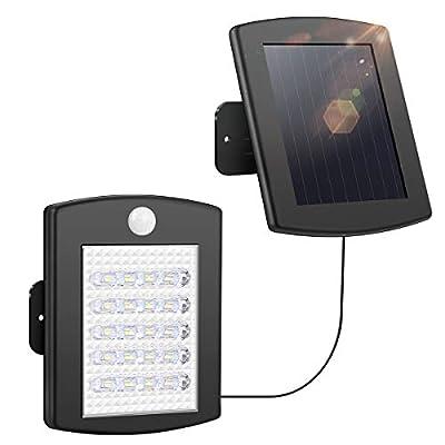 INSOME Solar Lights Outdoor, 20 LED Motion Sensor Lights, Waterproof Security Lights, Outdoor Solar Flood Light for Garage Front Door Garden Deck (Cold White)